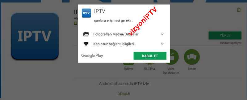 gogleplay iptv server kurulumu